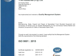 ISO9001 2015 New Certificate